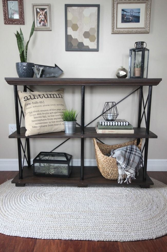 Free Build Plans For This Beautiful Rustic Industrial Furniture Piece. This  DIY Shelf Would Look
