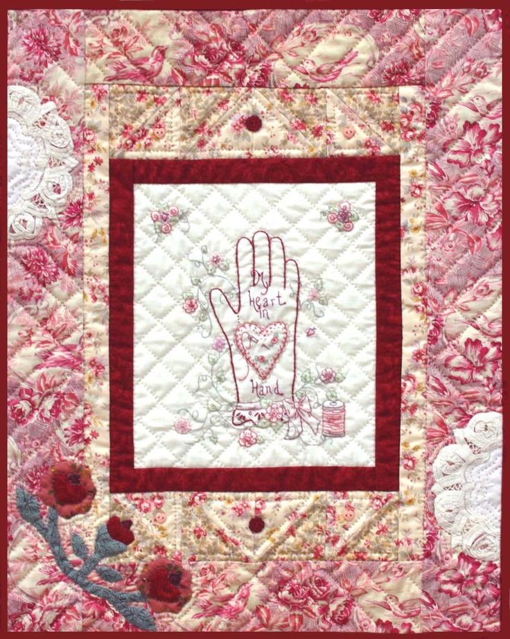 One of my patterns. Berryvine Designs Quilt Pattern - My Heart in Hand - quilt. via Etsy. quilt ...