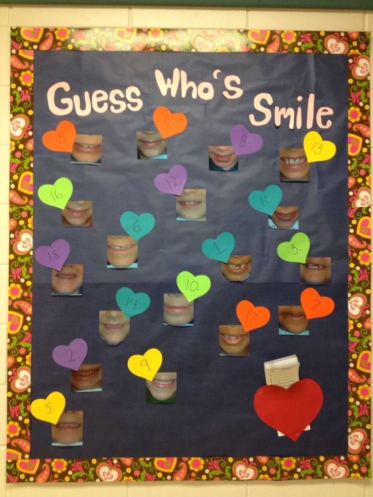 The Valentine's Day that came and went... A great interactive display for Dental Health!