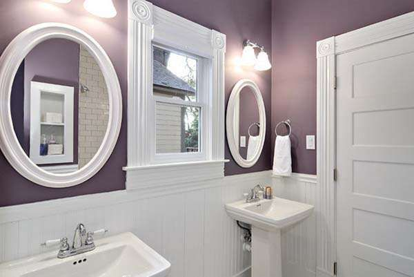 35 Best Purple Bathroom Ideas For 2021 Decor Home White Paint Bathrooms