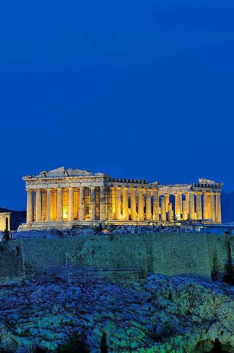 The Parthenon, Athens, Greece, (built between 447 BC and 438 BC)