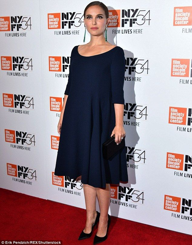 Things that go bump in the night:Natalie Portman showcased her burgeoning belly at thepremiere of Jackie at the New York Film Festival on Thursday.