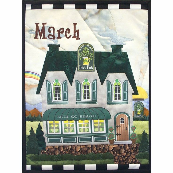 March Holiday House Mini Quilt Kit