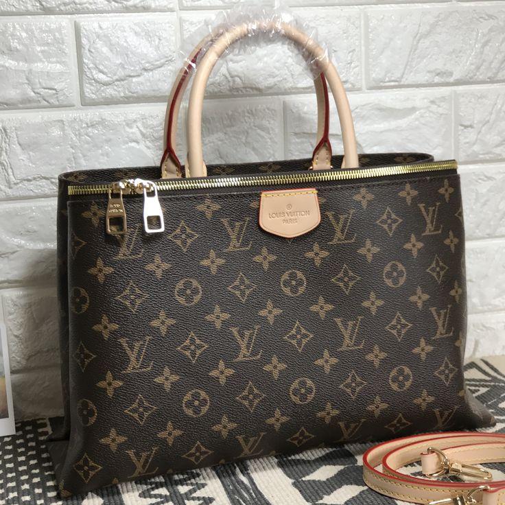 Louis Vuitton lv rivoli tote bag monogram oxidized leather version
