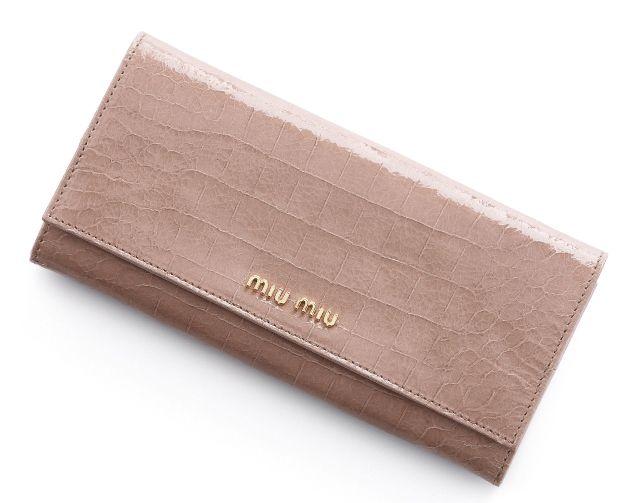 ミュウミュウ2013年春夏新作STCOCCO LUX二つ折り 長財布 5M1109 NKG F0236  -ミュウミュウ財布コピー