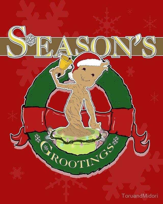 Season's Grootings'  Groot christmas cards!