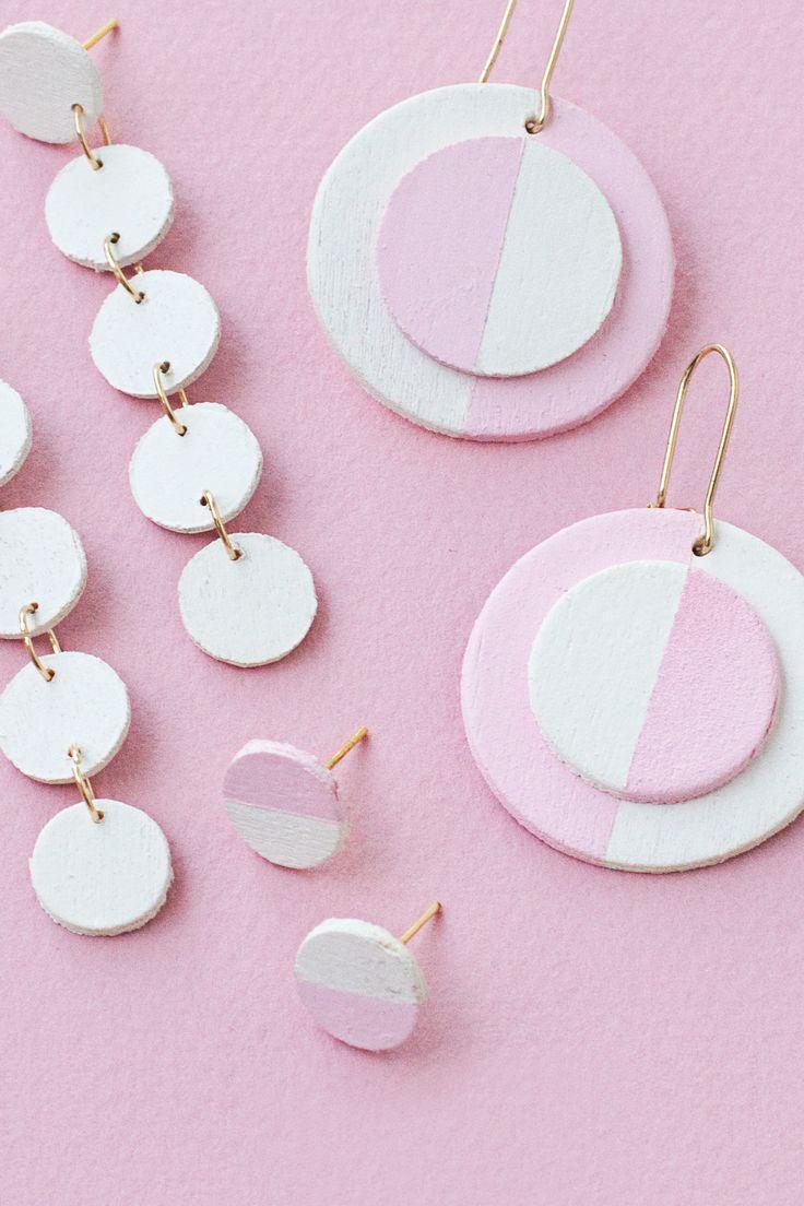 DIY Wooden Circle Earrings — 2 Ways