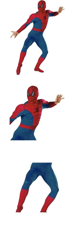 Halloween Costumes Men: Spider-Man Classic Muscle Adult Mens Superhero Spiderman Halloween Costume BUY IT NOW ONLY: $43.69