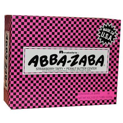 Strawberry ABBA-ZABA  http://www.thecandylandstore.com/wholesale-bulk-candy/abba-zabba-pbj.html