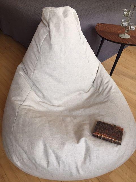 Scandinavian interior bean bag chair. Simplicity is beauty! https://www.etsy.com/shop/CloudMakers