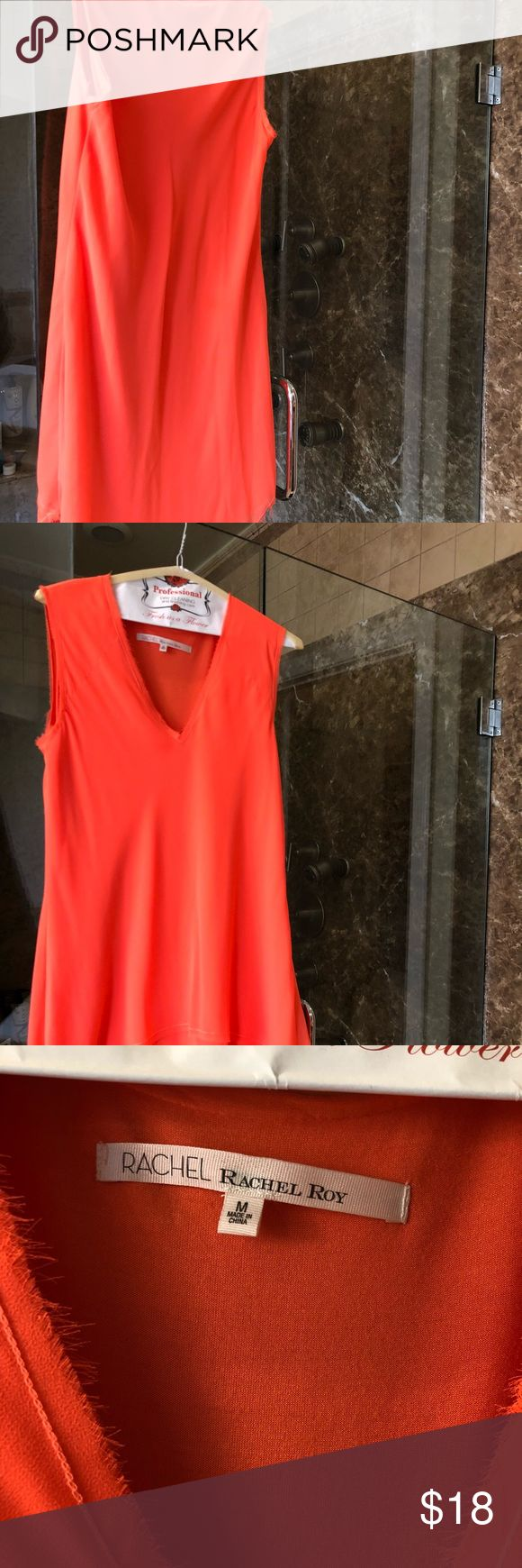 Rachel Roy Orange/Tangerine Dress Size M Excellent Used Condition, light and comfortable dress. RACHEL Rachel Roy Dresses Asymmetrical