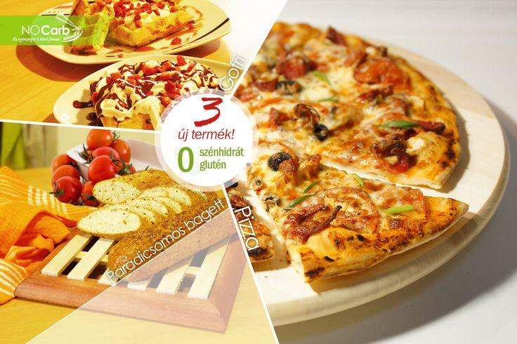3 új kényelmi termék a NoCarb kínálatában: Pizza, Gofri és paradicsomos Bagett! Próbáld ki őket! | Klikk a képre a részletekért!