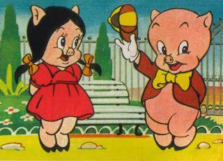 porky pig and petunia