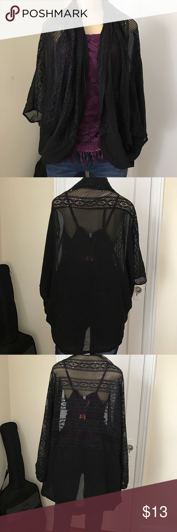 Black cover up Has arm holes so it doesn't slip off! Perfect for a night out / the beach/ a day out with friends Other