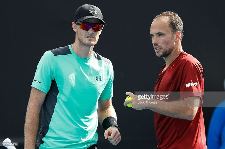 Jamie Murray of Great Britain and Bruno Soares of Brazil compete in their first round match against Sam Querrey of the United States and Donald Young of the United States  on day four of the 2017 Australian Open at Melbourne Park on January 19, 2017 in Melbourne, Australia.  (Photo by Jack Thomas/Getty Images)