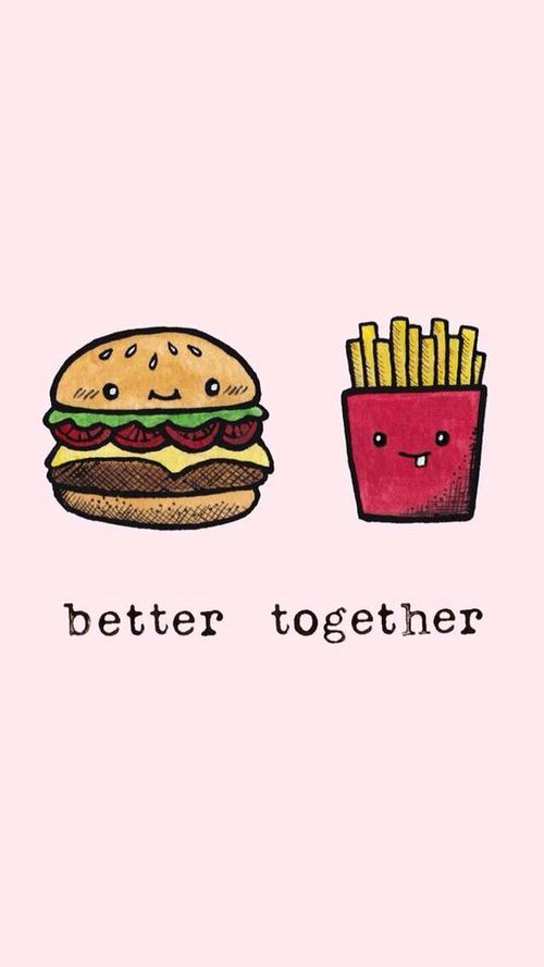 food, better together, and wallpaper image