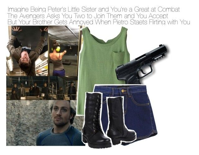 """""""Imagine Being Peter's Little Sister and You're a Great at Combat. The Avengers Asks You Two to Join Them and You Accept But Your Brother Gets Annoyed When Pietro Starts Flirting with You"""" by fandomimagineshere ❤ liked on Polyvore featuring Quiksilver, All Black, San Crispino and kitchen"""