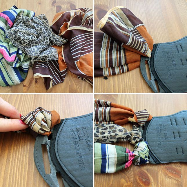 How to Create the Ultimate Scarf Belt via Brit + Co.