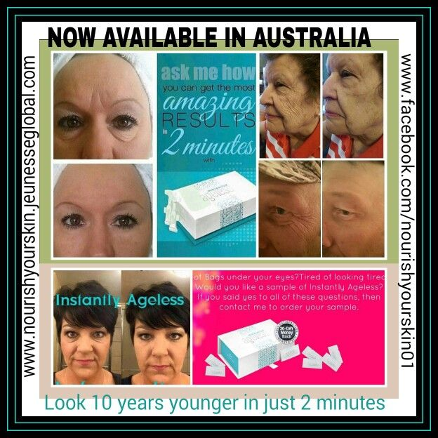 INSTANTLY AGELESS IS NOW AVAILABLE IN AUSTRALIA  www.nourishyourskin.jeunesseglobal.com