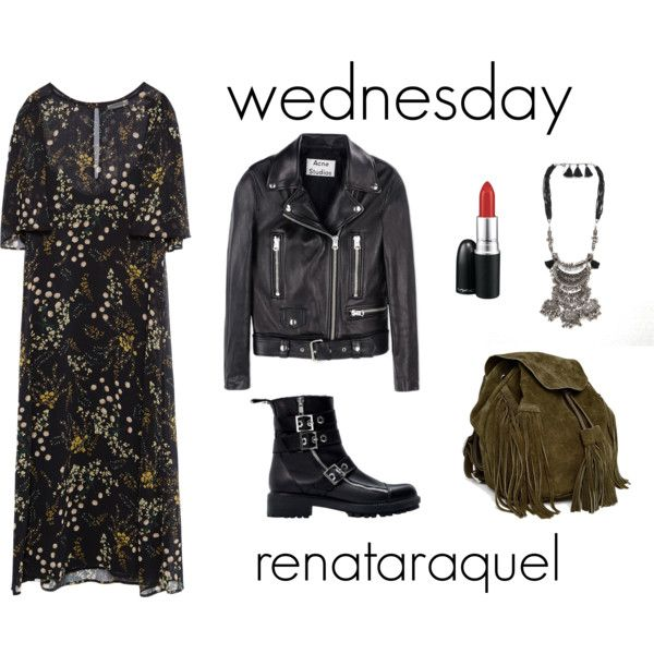 Wednesday by renatabarroso on Polyvore featuring Zara, Acne Studios, ASOS and MAC Cosmetics