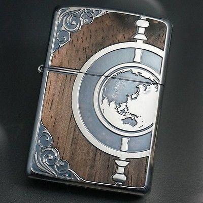 Zippo-Lighter-ANTIQUE-GLOBE-Silver-Wood-Inlay-Both.jpg (400×400)