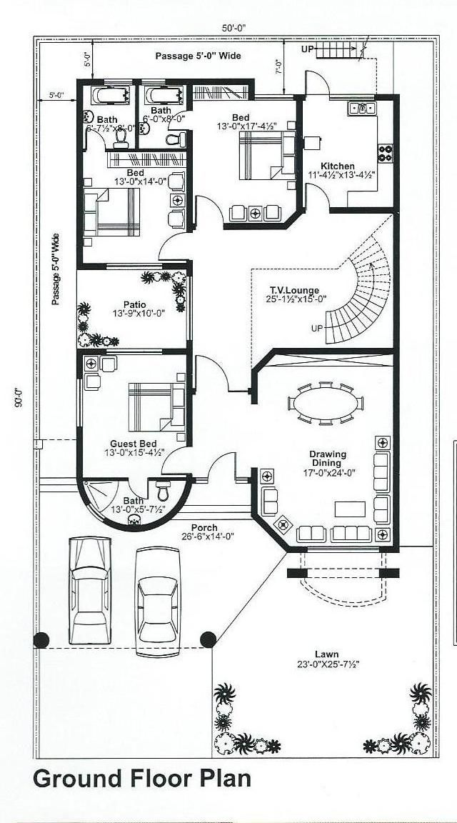 Pin By Mnaveed On Said Square House Plans House Floor Design My House Plans