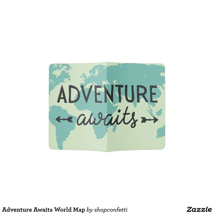 PASSPORT HOLDER. . .Adventure Awaits World Map Passport Holder.  . . . For LOTS MORE World Map Passports see my board . . . . . . or for EVEN MORE - Click Visit to find the whole collection.