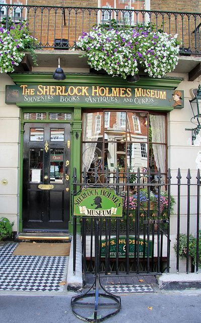 The Sherlock Holmes Museum, London. I   didn't go in, but I saw the outside. 221B Baker St.