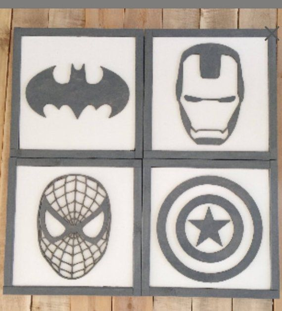Superhero Sign 11″- Superhero Wall Art- Boys Bedroom Decor- Neutral Nursery Decor- Superhero Nursery