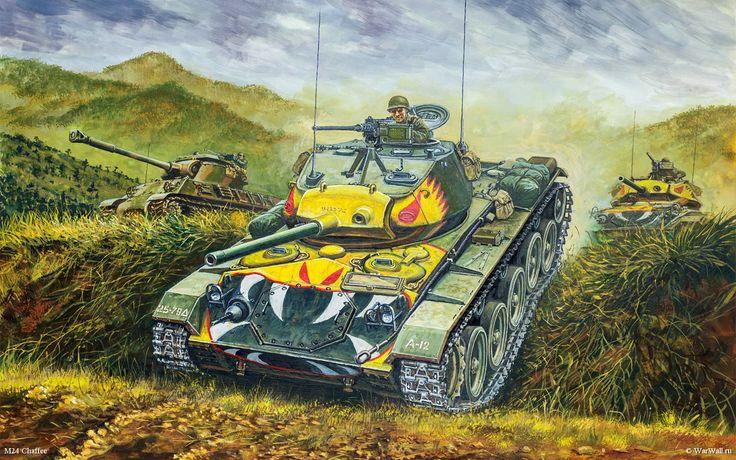 рисунок 35209 M24 Chaffee, Korean War
