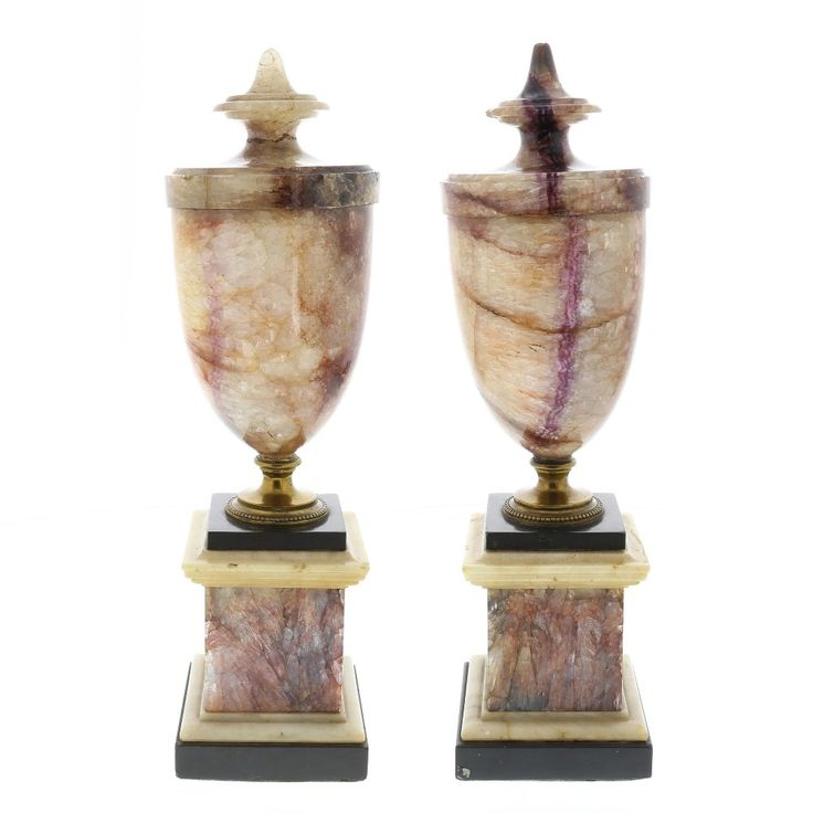 A good pair of Blue John urns