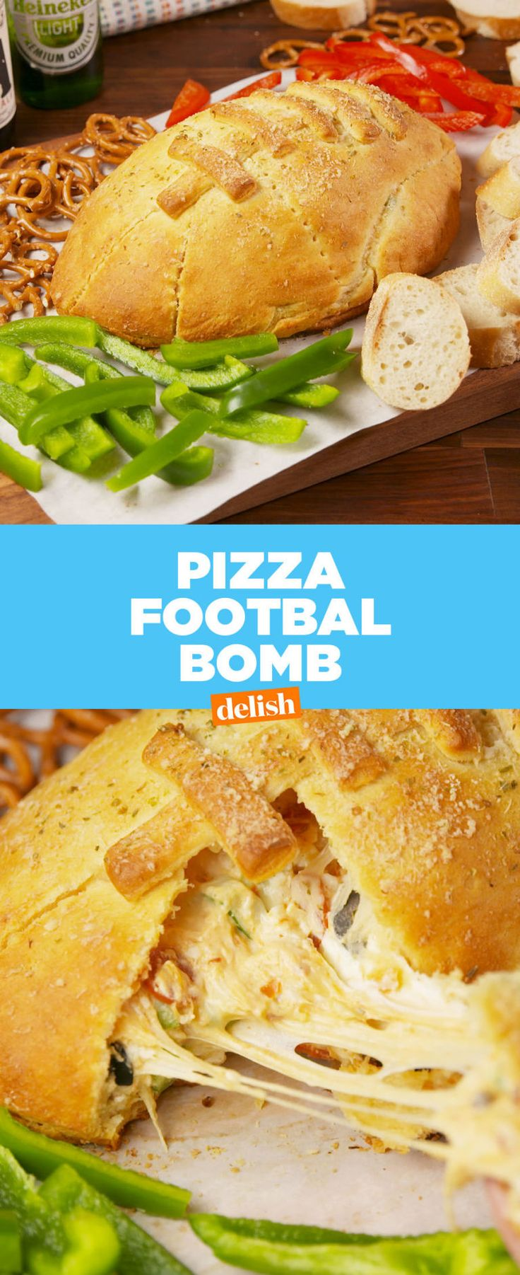Pizza Football Bomb - Delish.com