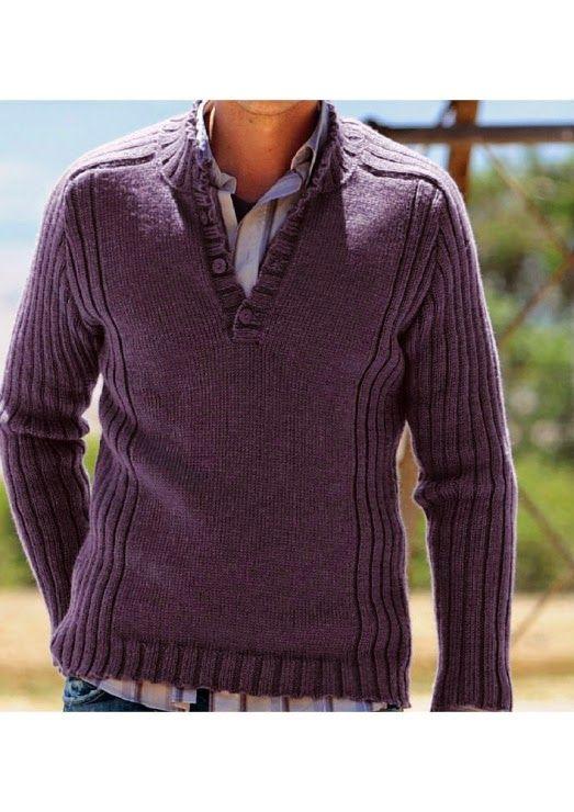 Krpena LUTKICA Tandrzvrk: Ljubičasti džemper za vašeg omiljenog dasu; purple sweater knit for men