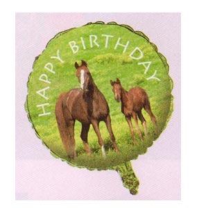 """Wild Horses 18"""" Mylar Balloon"""