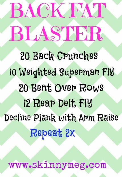Skinny Meg: Back Fat Blaster {Video} | After Baby ...