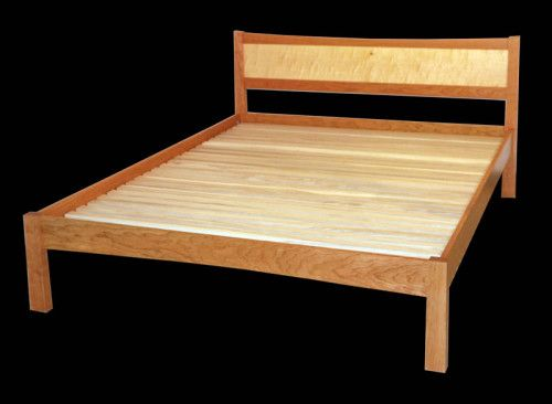 Asian platform bed by Richard Bissell, a member of the Guild of Vermont Furniture Makers.