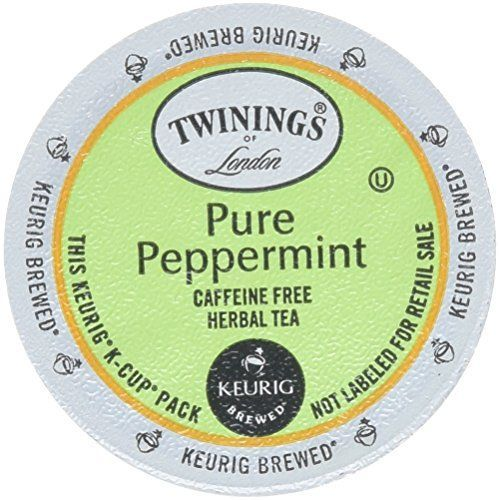 Twinings Pure Peppermint Tea 48-Count K-Cups for Keurig Brewers * Find out more at the image link. #Coffee