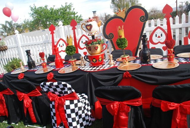 Queen Of Hearts Table Setting Alice In Wonderland Tea