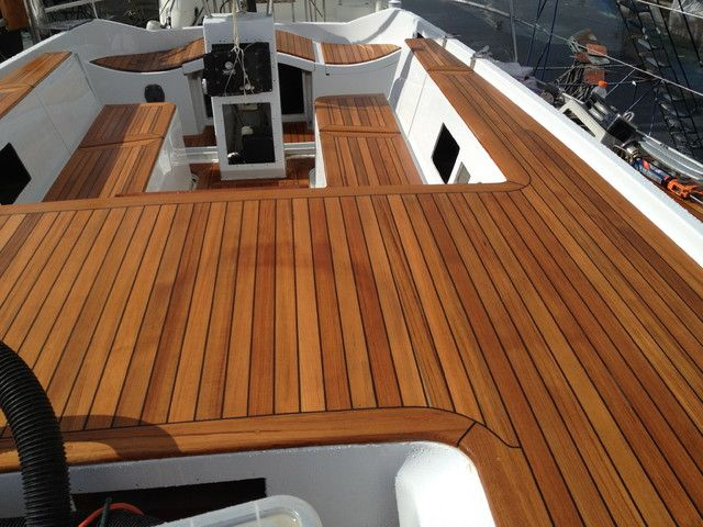 22 best images about synthetic teak decking on pinterest for Non wood decking material