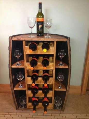Raft , bar lemn suport sticle de vin rustic Mobilier Bucuresti - imagine 2