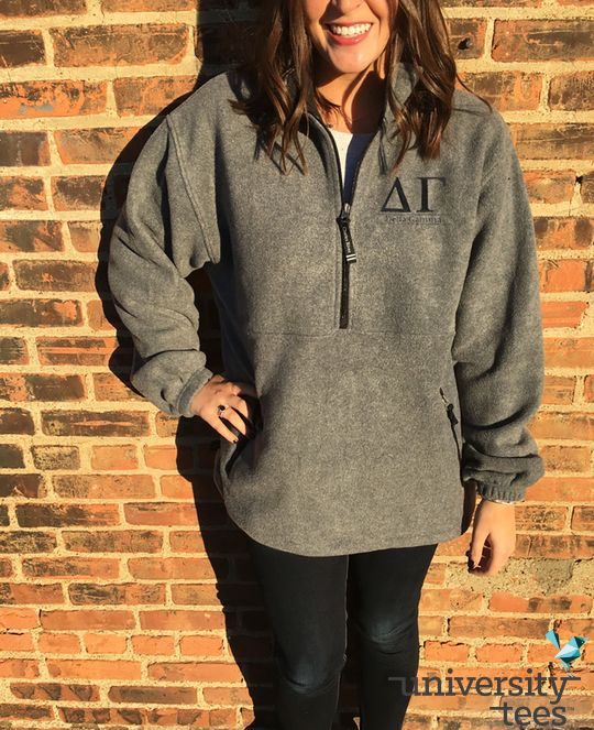 Fleece Adirondack: how to basically wear a blanket to class and still look 100% presentable #TrendingTuesday   Delta Gamma   Made by University Tees   www.universitytees.com
