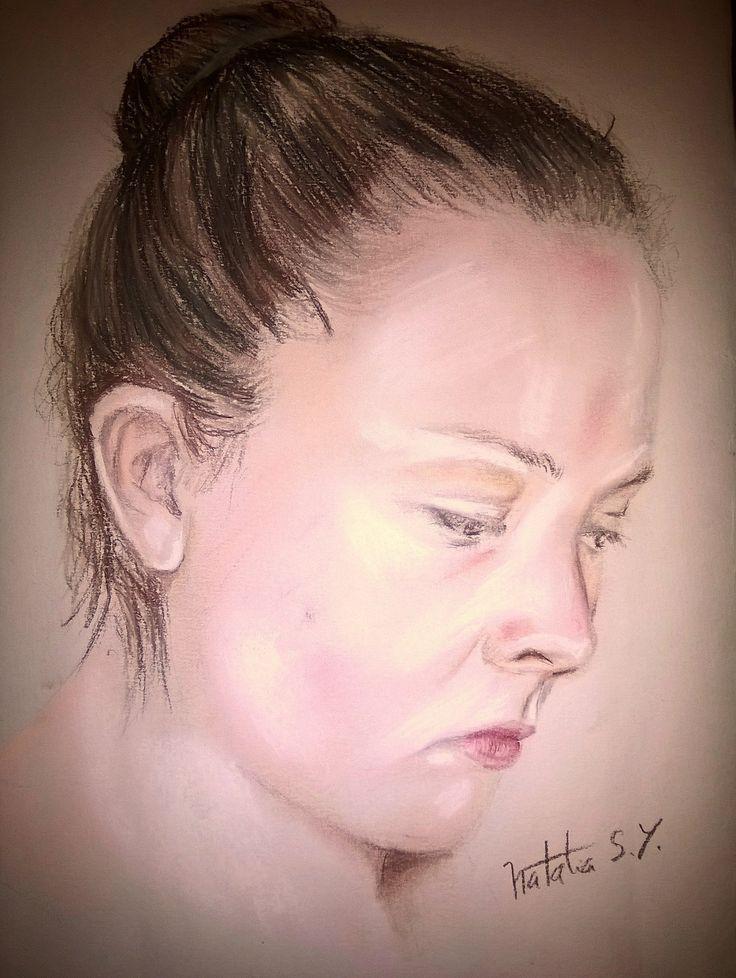autoretrato en pastel seco #portrait #artpastels #softpastels #art #drawing