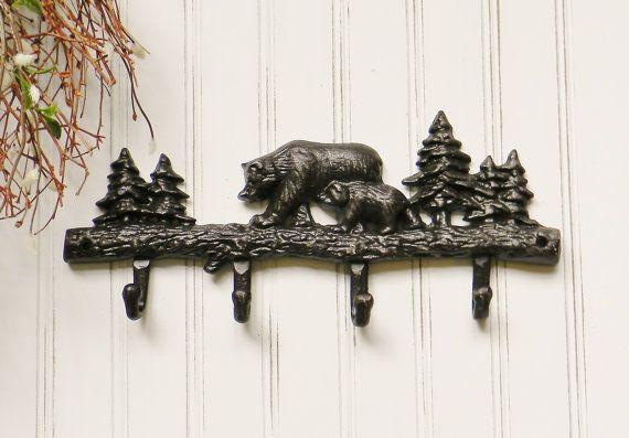 Bear Coat HookCast Iron Coat Rack Cast Iron от ColorfulCastAndCrew