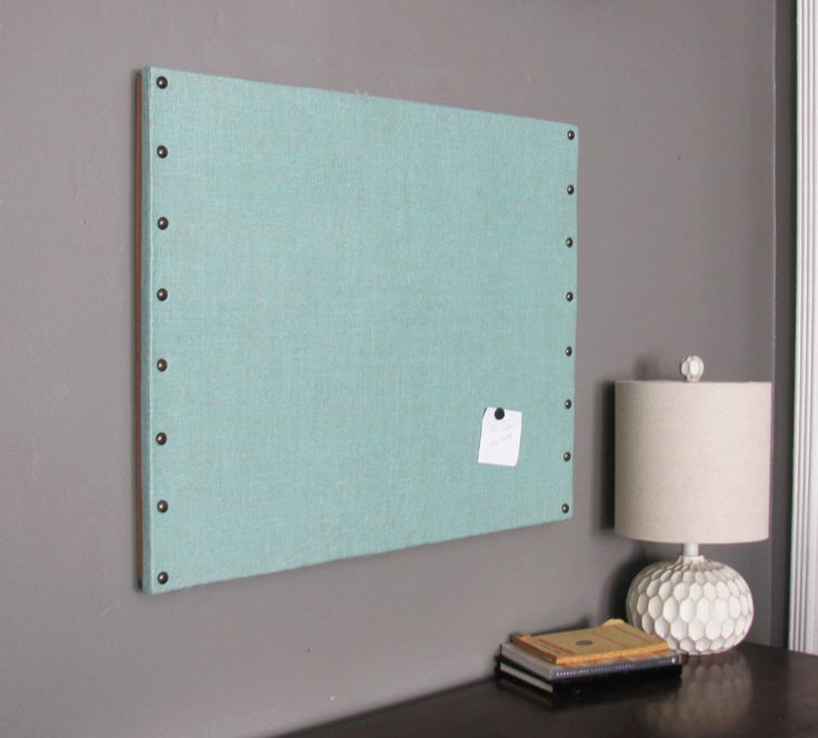 "Mint Burlap Cork Board with Decorative Tacks 22"" x 28"" by ciaobellacollections on Etsy https://www.etsy.com/listing/255915320/mint-burlap-cork-board-with-decorative"