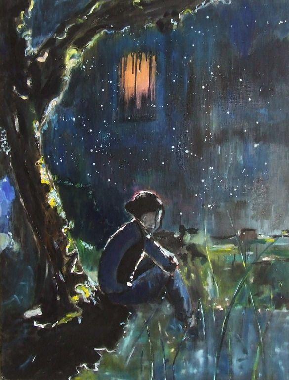 "Saatchi Online Artist: Tanja Vetter; Oil, Painting ""Midnight"""