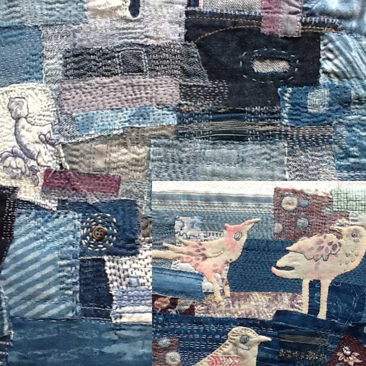 "Boro Workshop---stitching ""indigo"" scraps With Tricia Warman"