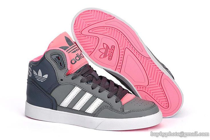 Women's Adidas Original Extaball Shoes HIFASHION Gray Pink Silvery #cheapshoes #sneakers #runningshoes #popular #nikeshoes #authenticshoes