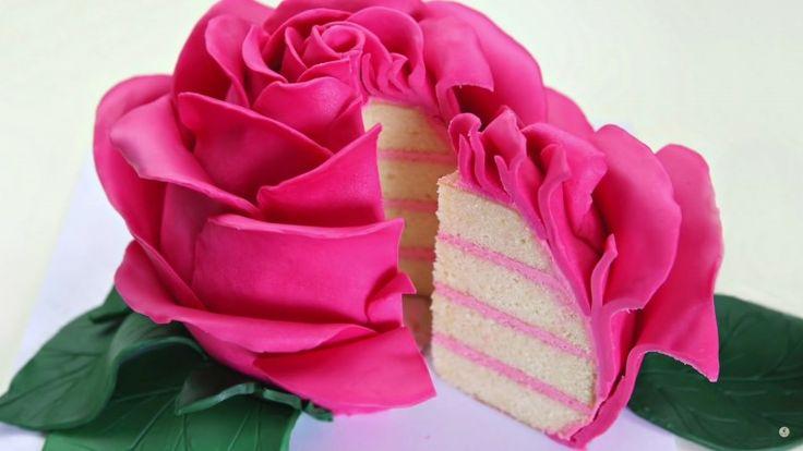 Diese wunderschöne Rose kannst du komplett verputzen. Und so machst du sie selber.