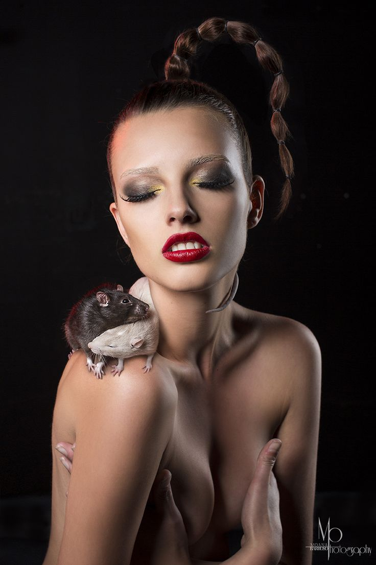 RATS! I love the way these two are entwined on her shoulder in such a gentle way. I call this shot 'The Ying and the Yang'. #moanabarrosophotography #rats #beauty #photography #nude #animals #model #fashion #nude #loveanimals #fashionandanimals #studiolight #studio #stunner
