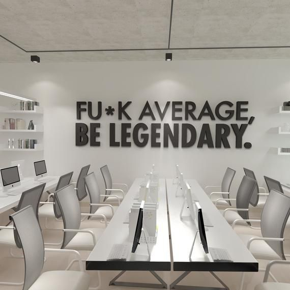 Be Legendary Workplace wall art , Functional Office Décor , Cool Offices, Workplace Decor SKU:AVLEGE